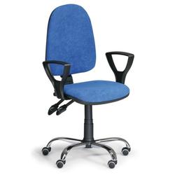 Bürostuhl torino mit armlehnen, synchronmechanik, blau