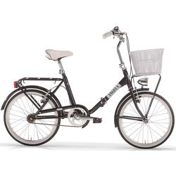 MBM Faltrad New Angela, 1 Gang Kettenschaltung schwarz Falträder Klappräder Fahrräder Zubehör Fahrrad