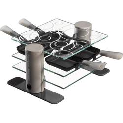 Maybaum MAYB R 4 Raclette 4Pfännchen, kabelgebunden Transparent