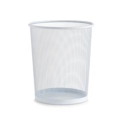 Zeller Present Papierkorb Papierkorb, Mesh, weiß, Ø29,5 x 35 cm