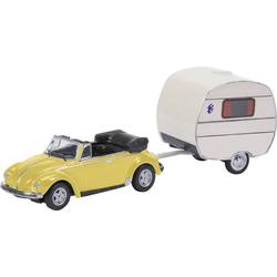 Schuco 452651300 H0 Volkswagen Käfer m. Wohnanhänger