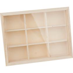 VBS Aufbewahrungsbox, Kunststoff, (2-tlg), 9 Fächer