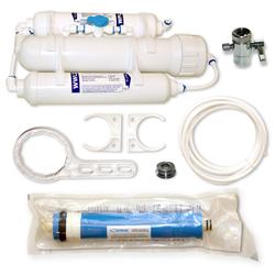 3 Stufen Umkehrosmosefilter 100 GPD für Aquarium, small mit Spülventil