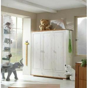 Massivholz Kleiderschrank Kiefer Massiv Weiß Honig Kinder-schrank Baby Zimmer