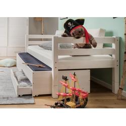 Infanskids Bettschubkasten mit 2 Rollschubkästen und Pfosten, VERSANDKOSTENFREI