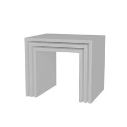 moebel17 Beistelltisch Beistelltisch Zariel 3er Set Weiß