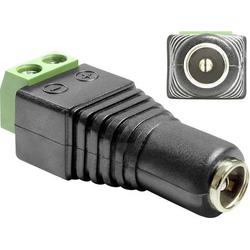 Delock 65421 DC (Strom) Adapter [1x DC-Buchse 5.5mm - 1x 2-Draht-Leitung] Schwarz 0.00m