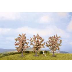 NOCH 25112 Baumpackung Obstbaum 80 bis 80mm Rosa, Blühend 3St.
