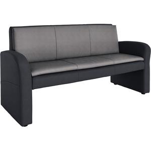 Gala Collezione Hockerbank mit Rückenlehne, schwarz, schwarz/grau, FSC®-zertifiziert, exxpo - sofa fashion