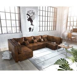 DELIFE Wohnlandschaft Panama, Braun Wohnlandschaft modular braun 315 cm x 80 cm x 160 cm