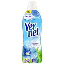 Vernel Weichspüler Frischer Morgen, Konzentrat für weichere Wäsche mit frischem Duft, 0,9 Liter - Flasche