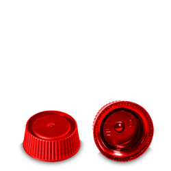 Schraubverschluss - rot - PP - DIN 28 Gewinde