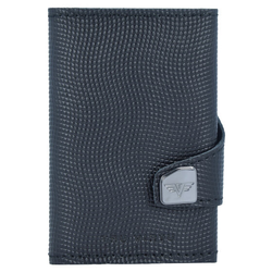 Tru Virtu Click & Slide Etui na karty bankowe Portfel skórzany6,5 cm Aluminium Core black