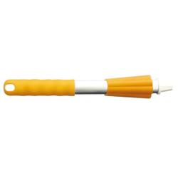 Haug Kurz-Alustiel, Alustab mit Griff und Überwurfmutter, Griff und Überwurfmutter, gelb