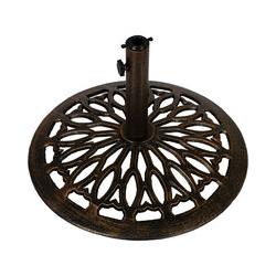 Sonnenschirmständer, Schirmständer Gusseisen bronze 15kg