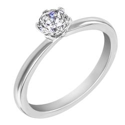 Verlobungsring aus Platin mit Diamantem Rabby