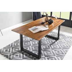 SalesFever Baumkantentisch beige Holz-Couchtische Holztische Tische Tisch