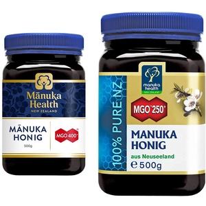 Manuka Health - Manuka Honig MGO 400+ 500g - 100% Pur aus Neuseeland mit zertifiziertem Methylglyoxal Gehalt & - Manuka Honig MGO 250+ (500 g) - 100% Pur aus Neuseeland