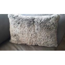Deckenkunst Kissen Wolf grau 40x60 mit Inlet