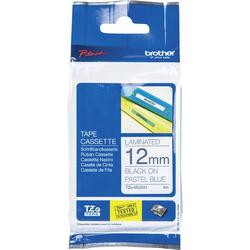 Brother Schriftband Pastell TZe TZe-MQ531 Bandfarbe: Pastell-Blau Schriftfarbe:Schwarz 12mm 4m