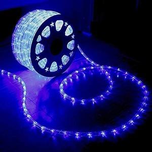 XUNATA 220V-240V LED Lichterschlauch Licht Leiste 36LEDs/m IP65 Wasserdicht Schlauch Seil Lichter für Innen Außen Garten Party Weihnachten Deko(Blau,2M)