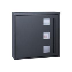 MOCAVI Briefkasten MOCAVI Box 103W Design-Briefkasten anthrazit-grau (RAL 7016) mit Sichtfenster