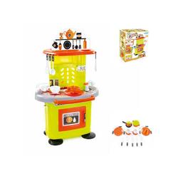 Mochtoys Spielküche Kinderküche 78 cm 10147 Kunststoff, mit Backofen, Herd, Spülbecken und viel Zubehör