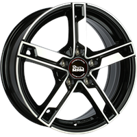MAM W4 black front polish 7.5x18 ET45 - LK5/114.3 ML72.6 Alufelge schwarz