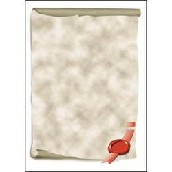 Designpapier Urkundenrollen A4 185g/qm VE=12 Blatt