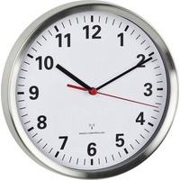 TFA 60.3529.02 Funk Wanduhr 22cm x 4.5cm Aluminium Schleichendes Uhrwerk (lautlos), Energiesparfunkt