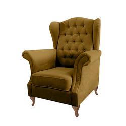 Fotel uszak Bruno musztardowy