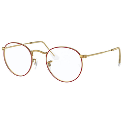 RAY BAN Brille ROUND METAL RX3447V rot