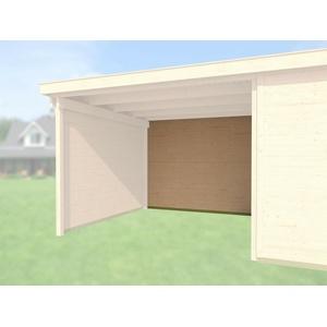 Weka Rückwand für Anbau 450 cm naturbelassen Loungehaus 21 mm Blockbohlenstärke