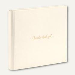 Gästebuch / Fotoalbum UNSERE HOCHZEIT, 230 x 220 mm, 60 Seiten, ivory, 2er Pack