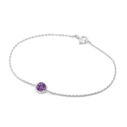 Goldarmband mit Amethyst Advena