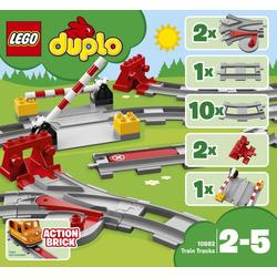 LEGO® DUPLO® 10882 Eisenbahnschienen