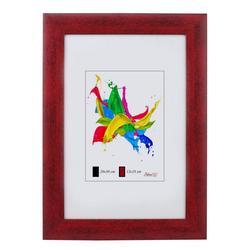 IDEAL TREND Bilderrahmen Denver Holz Bilderrahmen 13x18 cm bis 50x70 cm 11 Farben Bilder Foto Rahmen rot