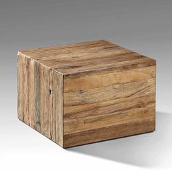 Block Couchtisch aus Teak Recyclingholz 50 cm