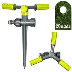 3-Arm Kreisregner mit Erdspieß Sprinkler Bewässerung Rasensprenger LIME LINE LE-6107 BRADAS 4413