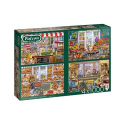 Falcon Puzzle 11249 Your Favourite Shops 4x 1000 Teile Puzzle, Puzzleteile
