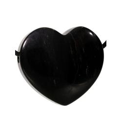 Adelia´s Kettenanhänger Herz Obsidian Anhänger