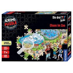 KOSMOS KRIMI-PUZZLE Die drei??? Kids- Chaos im Zoo  Puzzle 150 Teile