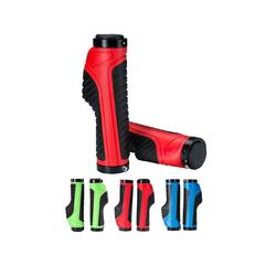 ROCKBROS Fahrradlenkergriff Lenkergriffe Ergonomische Fahrrad rutschfest Gummi Lock-on, Länge 131mm (2-St., Paar), Ergonomisch rot