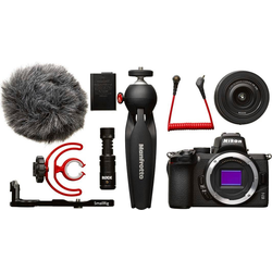 Nikon Z50 DX 16-50 mm 1:3.5-6.3 VR Vlogger Kit Systemkamera (DX 16-50 mm 1:3.5-6.3 VR, 20,9 MP, Bluetooth, WLAN (WiFi)