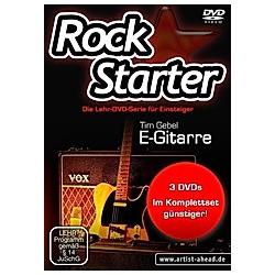 Rockstarter, E-Gitarre, 3 DVDs