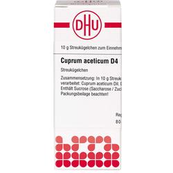 CUPRUM ACETICUM D 4 Globuli 10 g