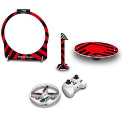 Speedlink RC-Quadrocopter Speedlink Racing Drohne Game Set mit Fernsteuerung + Ladeplatz + Zieltor Mini RC Drone Quadrocopter Kinder Anfänger Pack Spielzeug (Enn-Set, Komplettset), LED Beleuchtung