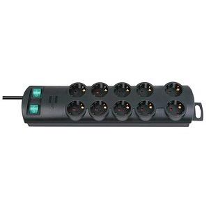 brennenstuhl Primera-Line 10-fach Steckdosenleiste mit Schalter schwarz
