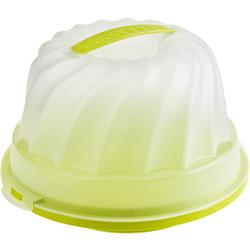 Rotho FRESH Gugelhupf- Kuchenbehälter, Aus Kunststoff, Maße: 305 x 285 x 175 mm, Farbe: transparent / grün