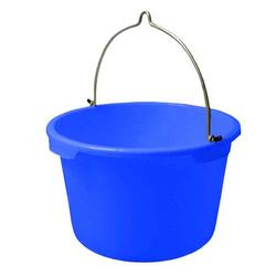 Bau-Eimer 20,0 l, Ø 37,5 cm, 'Profi', blau, Skalierung, schwer
